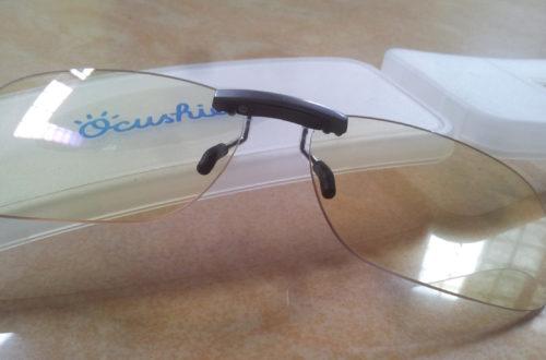 Ocushield Blue light glasses clip on